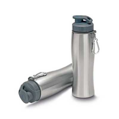markhabrasil-brindes-personalizados - Garrafa de aço inox 750 ml com mosquetão