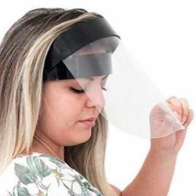 Máscara de Proteção Facial Retrátil 3D com Visor PETG. Super Resistente, Viseira Flexivel e Retrá...