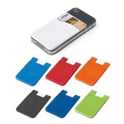 Porta cartões para celular em  silicone