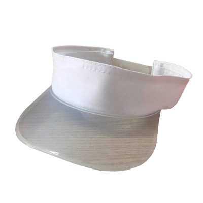 Viseira transparente com tecido personalizada - Unictech Brindes Promocionais