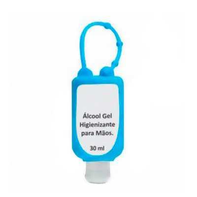 utc-brindes - Álcool em gel com suporte em silicone de 35 ml