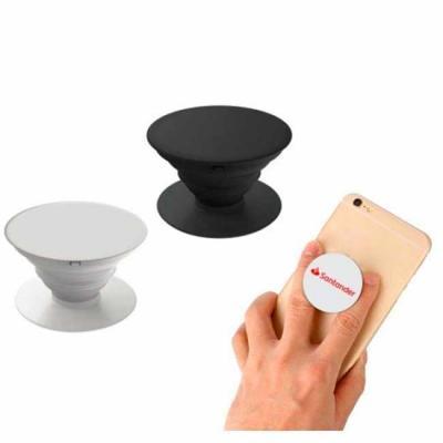 Pop socket personalizável Suporte para celular disponíveis na cor branca e preta Incluso suporte ...