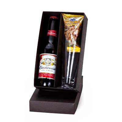 Kit Cerveja Long Neck com Copo Tulipa e Petisco - Z3 BRINDES