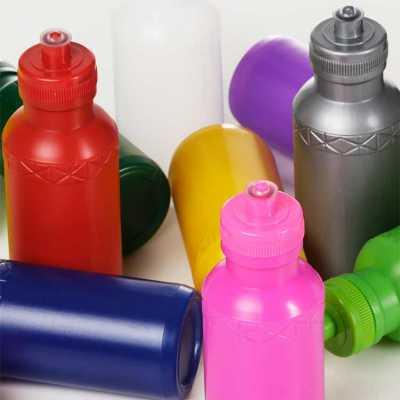 Squeeze 500 ml de plástico resistente inteiro colorido