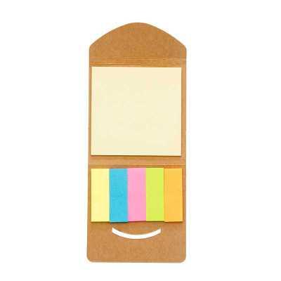 Mini bloco ecológico(kraft) de anotações com autoadesivos
