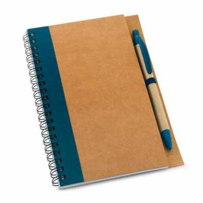 Caderno Papel kraft Capa dura com esferográfica
