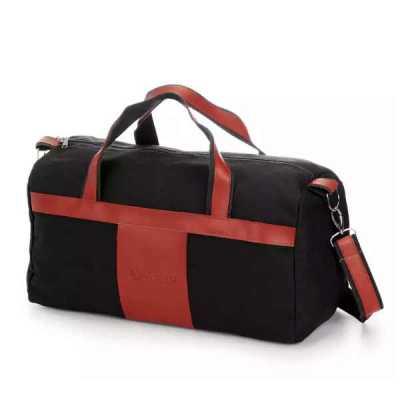 Bolsa de viagem em lona e acabamentos em couro sintético - Primme Mark