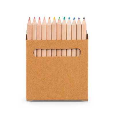 fc-brindes - Caixa de cartão com 12 lápis de cor