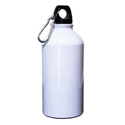 Squeeze Alumínio 500 branco Esse brinde personalizado possui o corpo em metal permitindo que o lí...