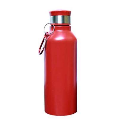 Squeeze Alumínio com Mosquetão Varedero 650ml Vermelha