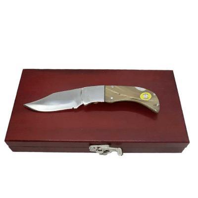 Kit de luxo com canivete de trava com lâmina de aço inox cirúrgico de 8 cm de comprimento, cabo e...