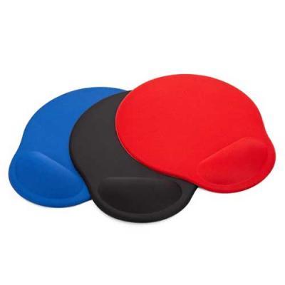 Mouse Pad ergonômico de neoprene com apoio para o punho de espuma Personalizado. Parte inferior e...