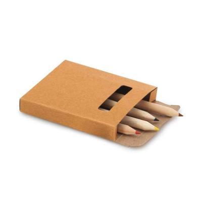 Kit 6 Mini Lápis de Cores