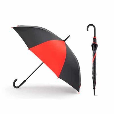 Guarda chuva. Poliéster 190T. Pega revestida a borracha. Abertura automática. ø1040 mm   830 mm.