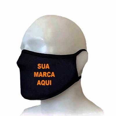 Máscara de Tecido 100% algodão com camada dupla proteção e personalizada com as suas cores e sua ...