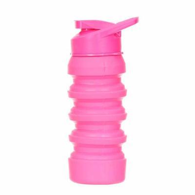 Squeeze retrátil 500ml livre de BPA, produzido em polipropileno e thermorubber. Tampa rosqueável ...
