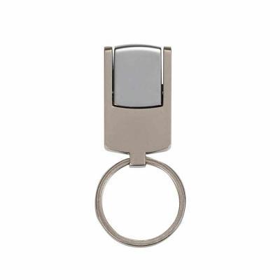 Mini pen drive chaveiro 4GB prata fosco com tampa metal brilhante, acompanha chaveiro. Especifica...