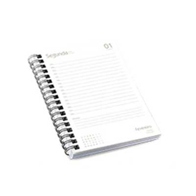 Miolo de agenda diária com 352 paginas. Sendo: pag iniciais ( abertura - 2 pg; dados pessoas - 1 ...
