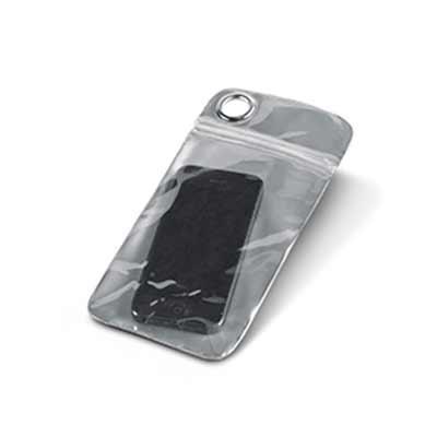 Bolsa impermeável para celular em PVC. Incluso 01 personalização em silk screen 01 cor 01 posição...