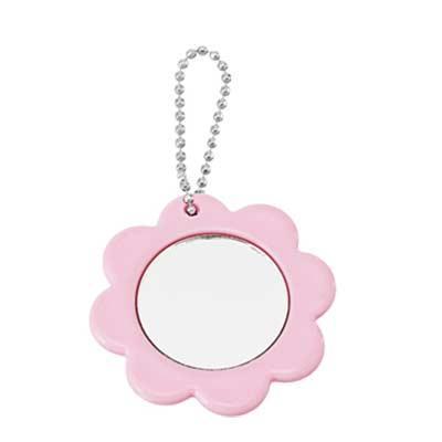 Espelho chaveiro de plástico no formato de flor. Medida: 5,2 x 6 Personalização:01 cor e 1 posiçã...
