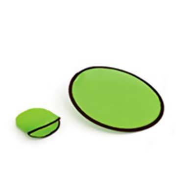 Frisbee dobrável. 190T. Incluso 01 personalização em silk screen 01 cor 01posição. Fornecido com ...