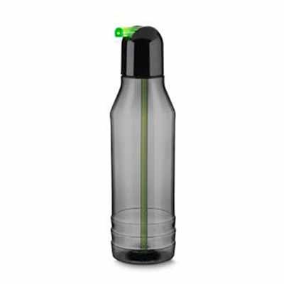 Garrafa plástica com canudo retrátil, 600 ml Medidas:6,5 cm x 24,5 cm Área de Gravação:8 cm x 7 c...