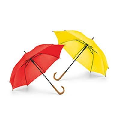 Guarda-chuva. Poliéster 190T. Pega em madeira. Abertura automática. Medida: 1040mm (diametro) Inc...
