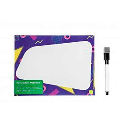 Memo bord magnético com caneta e apagador Medidas:15 cm x 10 cm Área de Gravação:- Personalização...