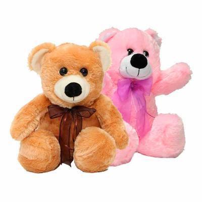 Urso Fofucho. Disponivel nas cores creme e caramelo. Tamanho 28cm.