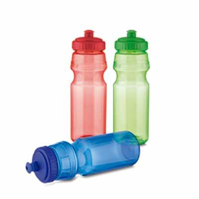 Squeeze de plástico, tampa rosqueável e bico com trava. Capacidade 750 ml.