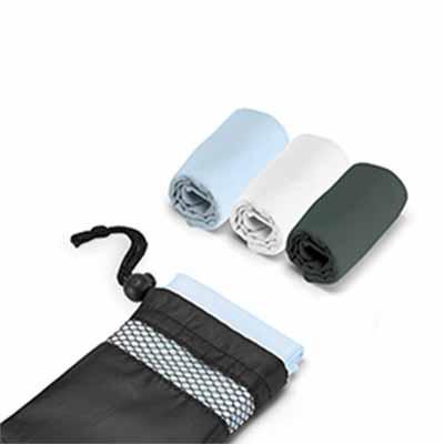 Toalha para esporte. Microfibra: 210 g/m². Fornecido com bolsa em 190T. Medida: 300 x 300 / Bolsa...