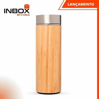Garrafa em bambu e aço inox