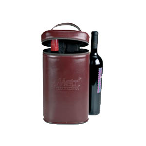 galvani - Porta vinho para 2 garrafas, fechamento com ziper.