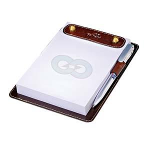 galvani - Bloco de notas com impressão personalizada e caneta.