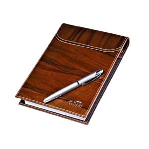 Galvani - Porta bloco de rascunho com 200 folhas sem impressão, com caneteiro.