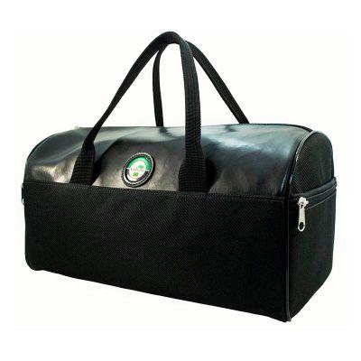 Galvani - Bolsa esportiva com alça de mão, toda pespontada, dois bolsos laterais com zíper, tam. aprox.  41 x 23 x 22,5 cm, fechamento c/ zipper. gravação placa...