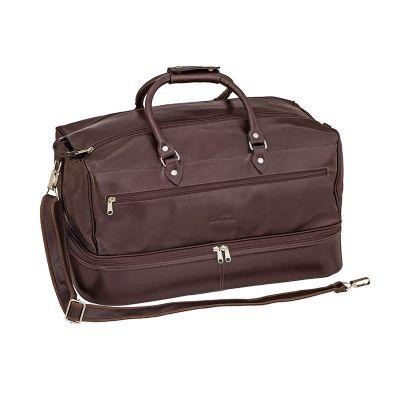 Mala de viagem contendo bolsos externos e divisórias internas. - Galvani