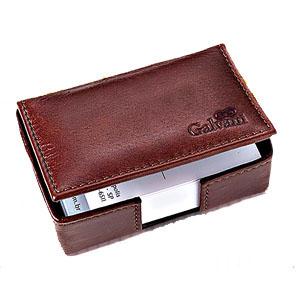Galvani - Caixa Porta Cartões Personalizada, toda pespontada com capacidade para 150 Cartões, tamanho aproximado: 10 X 6,5 X 3,5 cm.