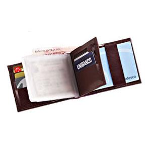 Galvani - Carteira Personalizada. Contendo: Porta Notas, Porta Cartões, Porta Cheque, Porta Níquel, toda pespontada.