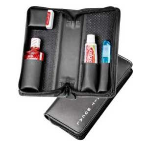 galvani - Kit bucal contendo escova, creme dental, fio dental, enxague bucal.