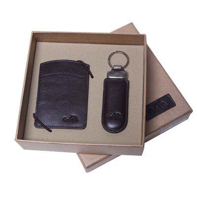 Kit com porta cartão de visita e chaveiro. - Galvani