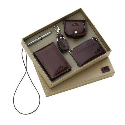 galvani - Kit unissex com porta bloco, porta níquel, chaveiro, porta cartão e caneta.