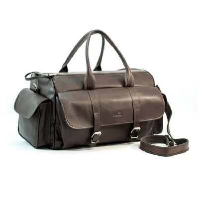 Galvani - Mala personalizada com Alça de Mão e de Ombro, bolso lateral e bolso frontal com 2 fivelas, toda pespontada, fechamento com zipper.