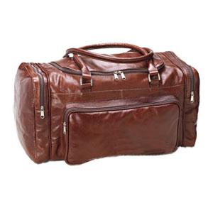 Mala de Viagem Personalizada com 2 bolsos laterais e bolso frontal com zipper, fechamento com zipper em U, alça de mão, toda pespontada. - Galvani