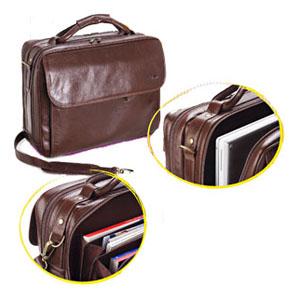 galvani - Maleta personalizada para NoteBook. Contendo: bolso externo com zipper, Porta Celular, Caneteiro e Porta Cartões. Toda pespontada.