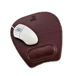 Mouse Pad Personalizado com apoio para o pulso, todo pespontado. - Galvani