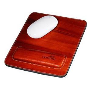 Mouse pad com apoio para o pulso, todo pespontado. - Galvani