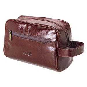 Necessaire personalizada com alça lateral, bolso externo com zipper, toda pespontada e fechamento com zipper. - Galvani