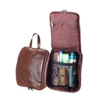 galvani - Necessaire personalizada de Pendurar, com 2 bolsos internos sendo 1 com tela e outro zipper, toda pespontada, fechamento com zipper.