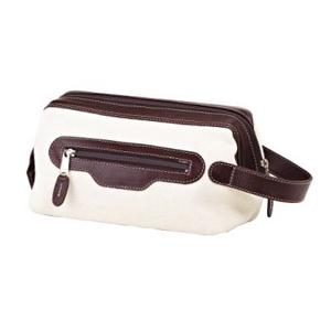 galvani - Necessaire personalizada toda pespontada, com alça de mão e bolso frontal, fechamento com zipper.